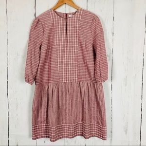 Esley Embroidered Linen Blend Dress/Tunic M